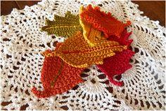 Crocheted Fall Leaves