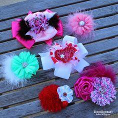 shabby chic hair bows