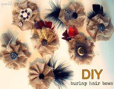 DIY Burlap Hair Bow