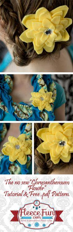 No Sew Fleece Chrysanthemum