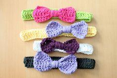 crochet headband bunch