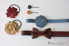 Faux LeatherHair Accessories