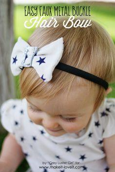 Easy Faux Metal Buckle Hair Bow