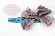 silk bow headband tutorial