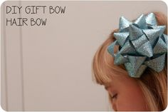 DIY Gift Bow Hair Bow