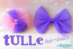 how to make tulle hair bow