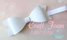 craft foam hair bow