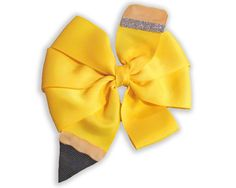 Back-to-School Pencil Pinwheel Hair-bow