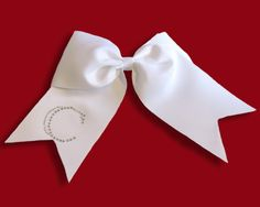 Rhinestone Monogram Simple Cheer Bow