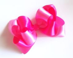 Double Stacked Twisted Satin bow!