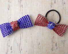 4th of July Rhinestone Bows