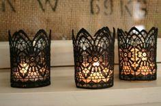 DiyGhotic Lace Candles