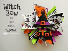 Witch Bow and Ribbon Sculpture