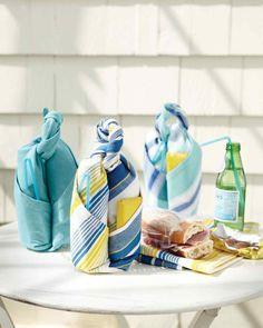 Dish Towel Picnic Carrier