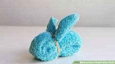 How to Fold a Rabbit Wash Cloth