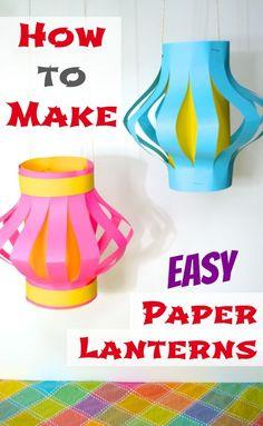 Make Easy Paper Lanterns