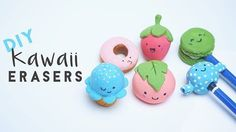 Kawaii Japanese Food Erasers