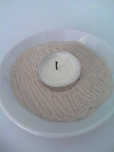 mini Zen garden candle