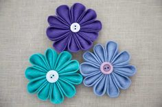 Japanese Kanzashi Fabric Flower