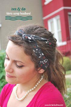 Super sweet fabric scrap headband