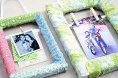 Fabric Scrap Wrapped Frame