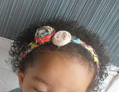 Braided Fabric Scrap/Fabric Rose Headband
