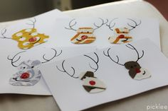 fabric scraps christmas cards