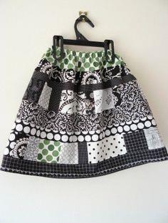 Patchwork Scrap Fabric Skirt