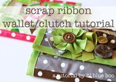 SCRAP RIBBON WALLET/CLUTCH