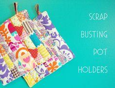 scrap busting pot holders