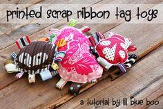 PRINTED SCRAP RIBBON TAG
