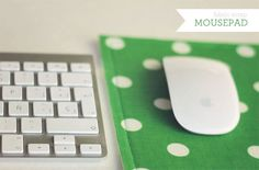 Super easy fabric scrap mousepad