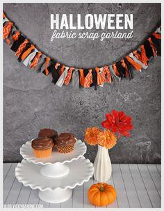 Halloween Fabric Scrap Garland