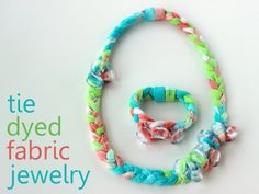 tie dyed fabric jewelry tutorial