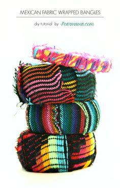 DIY: Mexican Fabric Bangle Bracelets