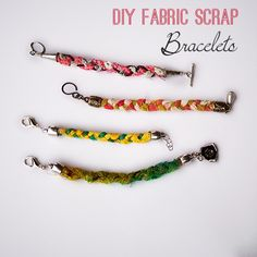 Make DIY Scrap Fabric Braclets