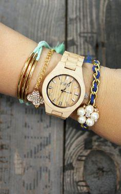 Summer Layered Bracelets and Gorgeous Watch