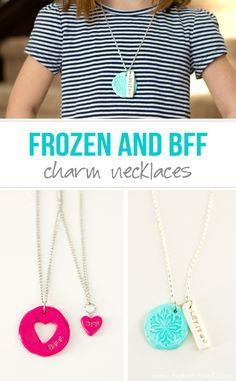 Frozen and BFF Clay Charm Necklaces