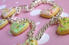 Polymer Clay Heart Cookie Charm