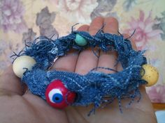 Summer Denim Beaded Bracelet