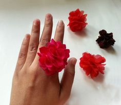 DIY Fabric Flower Ring