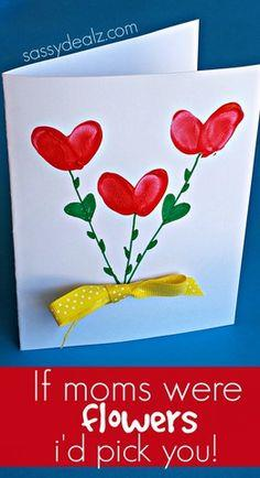 Fingerprint Flower Card