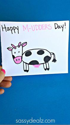 Cow Mother's Day Card Idea