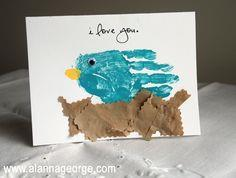 Mother?s Day Handprint Bird Card
