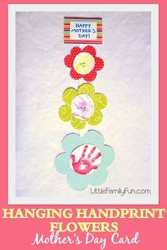 Hanging Handprint Flowers