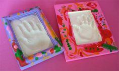 Plaster Handprints for Mother?s Day