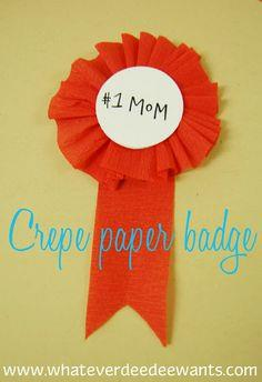 Mother's Day badge tutorial