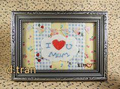 Mother's Day Fabric photo Art