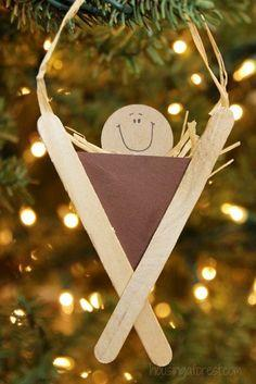 Popsicle Stick Manger Craft