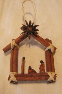 Cinnamon Stick Nativity Ornaments